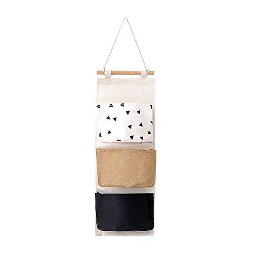 Gysad Estilo nórdico Colgar bolsos Multifuncional Organizador Algodón y lino Organizador puerta size 59 * 20CM (#5)