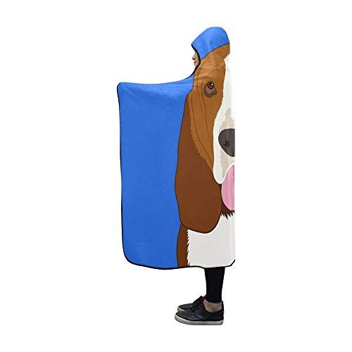 JOCHUAN Mit Kapuze Decke Basset Hound Buddy Dog Blanket 60x50 Zoll Produktbeschreibung Mit Kapuze Wurffolie Basset-hound-fleece