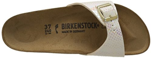 Birkenstock Madrid - Ciabatte Donna Beige (Shiny Snake Cream)