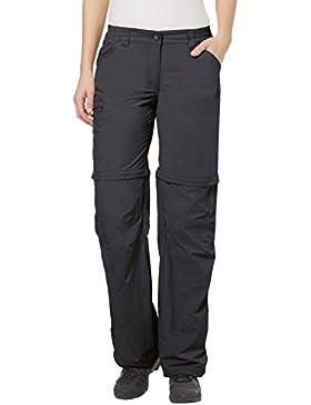 VAUDE Farley ZO - Pantalones de senderismo para mujer, color gris, talla 42 Long