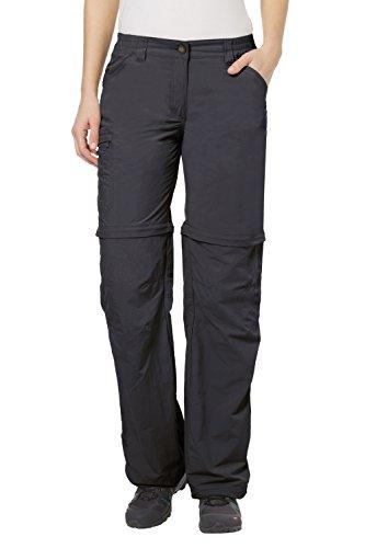 Vaude Damen Hose Farley Zip Off Pants IV, Basalt,48/XXXL (kurz), 3873