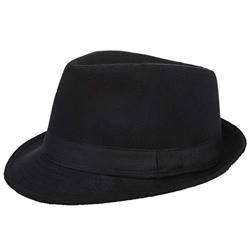 3104d61b1be80 AIEOE - Sombrero Hombre Fieltro Panamá Británico Gorro Jazz con Ala Ancha  Hat Caballeros Elegante para Adulto Chicos Hombres Sombrero Invierno Cálido  - ...