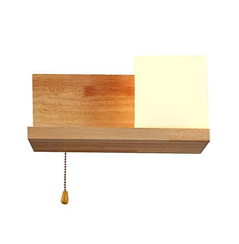 Moderne Minimaliste Classique bois Verre Luminaire Applique Murale Créatif Design Créatif couloir Lampe Murale pour pour Décoration de Maison Bar Cuisine salon Café Restaurants Club Appliques