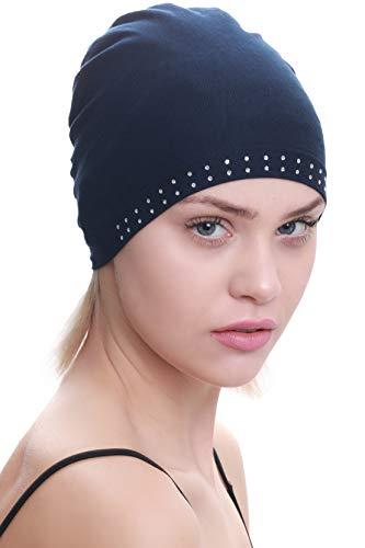 Deresina Headwear Berretto di Cotone Essenziale Fronte Gioiello (Marina) 6cbfafa1aecf
