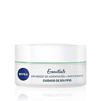 NIVEA – Crema para cara y rostro, cuidado de día matificante SPF 15, piel mixta y grasa, 50 ml