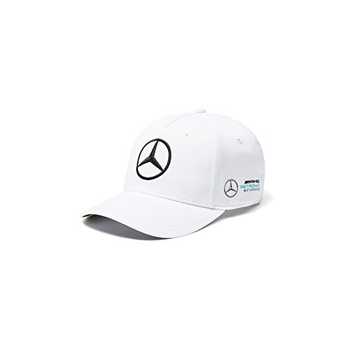 Mercedes AMG F1 Team Puma Baseball Cap Weiß Offiziell 2018
