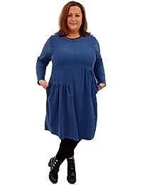 7cbf769fd01 Wolfairy Womens Plus Size Italian Dress Tunic Lagenlook Loose Autumn  Corduroy