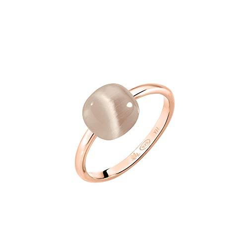 Morellato Anello da donna, Collezione Gemma, in argento 925?, pietra Cat Eye, PVD oro rosa - SAKK87018