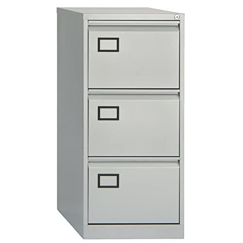 Office Hippo 3-Drawer Bisley Filing Cabinet – Goose Grey