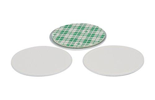 3x Rezeptchip-Halter für Thermomix: selbstklebende Metallscheibe ideal für TM5-Rezeptchips (in 2 verschiedenen Farben erhältlich) - weiß