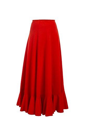 Yebra 601 Falda de Ensayo para Baile, Niñas, Rojo, 6