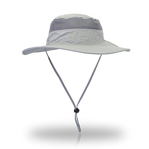 Windproof Fischerhüte VICSPORTS UPF50 + UV-Schutz Sun Cap Outdoor Eimer Mesh Hat 56-61cm
