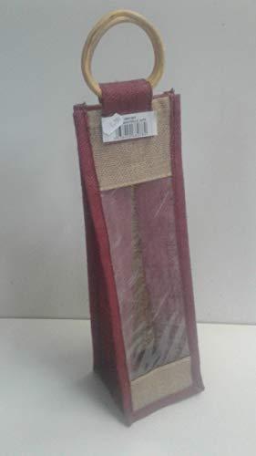 Aubry Gaspard Flaschentasche aus Jute, 36 x 10 x 10 cm