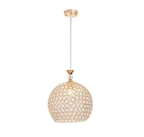 Trade luce pendente d'oro globo lampadario con k9 crystal regolabile cordone sala da pranzo illuminazione