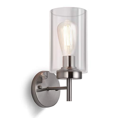 SISVIV Lámpara de Pared Vidrio Vintage Aplique Pared industrial a Velas Edison para Dormitorio Escaleras...