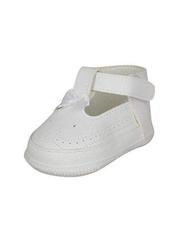 Boutique-Magique Chaussures de Baptême Bébé Fille Blanc