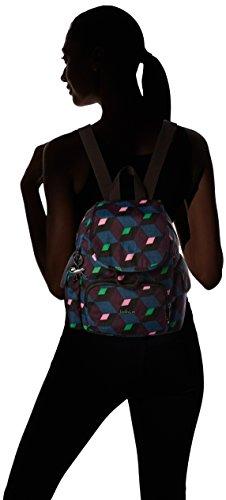 Kipling - City Pack Mini, Zaini Donna Multicolore (Bold Mirage)
