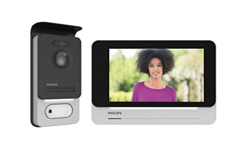 Philips 531002 Visiophone tactile haute qualité d'image/toujours connecté, Noir, 7 pouces