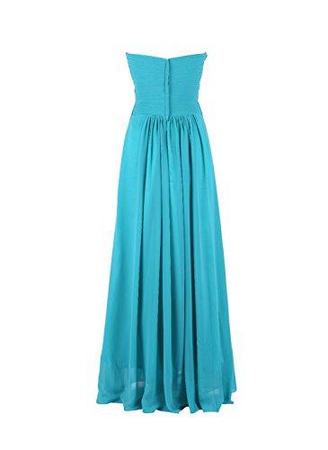 YiYaDawn Langes Brautjungfernkleid A-Linie Kleid für Damen Königsblau