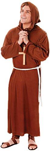 Bristol Novelty AC022 Mönch Robe Kostüm (Renaissance Kostüm Männlich)