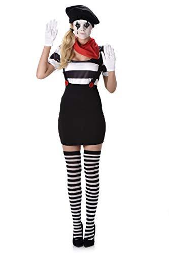 Mime Marceau Kostüm - chiber Disfraces Damen Pantomime Kostüm