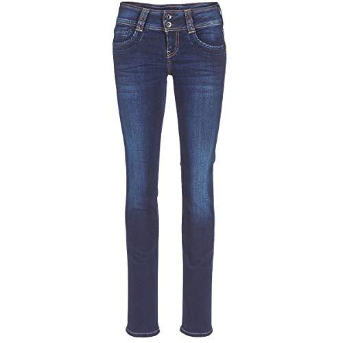 Pepe Jeans GEN Jeans Damen Blau - DE 32 (US 24/30) - Straight Leg Jeans Straight Leg Zip Fly Jeans