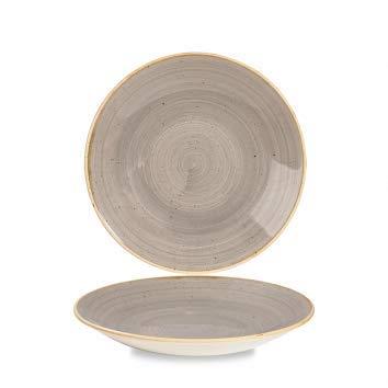 Churchill Stonecast handgefertige Deep Coupe Plate Ø 22,5cm, Farbe wählbar (Peppercorn Grey) Deep Coupe