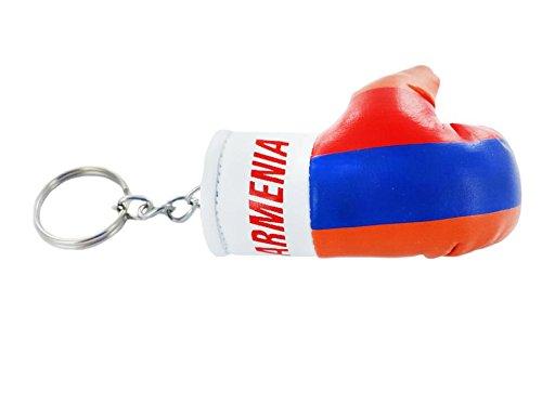 Schlüsselanhänger Schlüsselanhänger-Flagge armenie armenien armenia Boxhandschuh Schlüsselanhänger flag