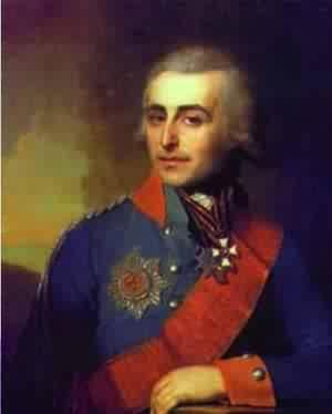 GFM Painting Handgemalte Ölgemälde Reproduktion von Portrait Of Count P A Tolstoy 1799,Ölgemälde von Vladimir Borovikovsky - 72 By 96 inches - 1799 Portrait