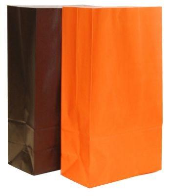 20 Halloween-Papier Partytüten (10 schwarz / 10 orange)