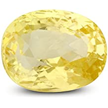 Parkash Bhagya Ratan Synthetic Pukhraj/Yellow Sapphire 5.25 Ratti Loose Gemstone