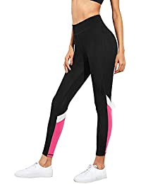 BLINKIN Yoga Gym and Active Sports Fitness Black Legging Tights for Women|Girls(Polyester Fabric)(222)