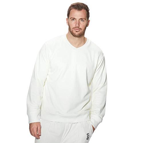 GM Gunn & Moore Teknik Cricket Pullover Small White Cream