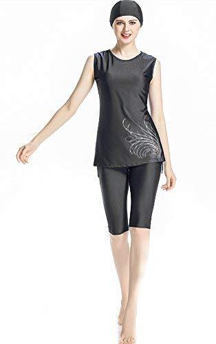 TianMai Muslimische Bademode Islamischen Sleeveless Badeanzug Hijab Muslim Swimwear Arab Beachwear Mädchen Burkini (NO.1, Int\'l L)