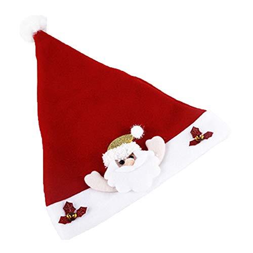 e Hat Santa Xmas Kostüm Hüte Sterne Weihnachten Hut Snowflake Schneemann für Erwachsene ()