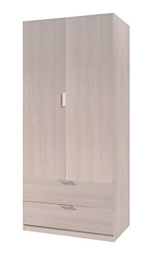 Habitdesign 00X222R - Armario ropero de 2 Puertas, Mueble Armario con 2...