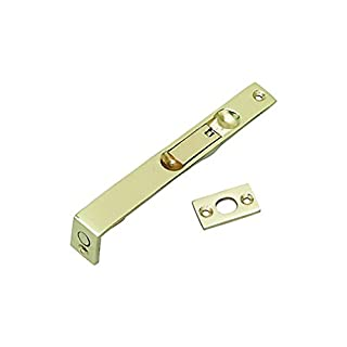 Supreme Heavy Duty Flush Bolt - Door Bolt for French Doors & Double Doors 100/150/200mm Brass/Chrome/Satin (150mm, Brass)