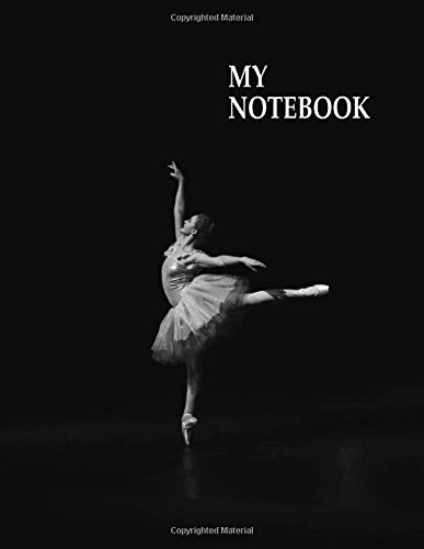 My Notebook. For Ballet Dance Fans. Blank Lined Planner Journal Diary. por BBD Gift Designs