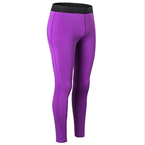 WXFC Frauen-Yoga-Hosen, hohe Taille Hüften, Tight Yoga-Hosen, hohe Elastizität, Außenlauf Fitness Pants, S, M, L, XL, XXL,D,M
