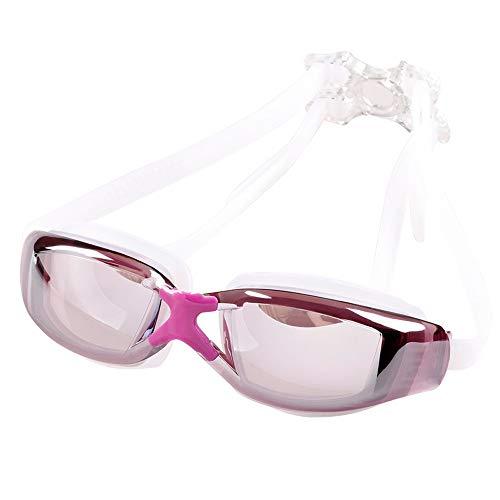 YHW-GLASSES-0813 Sportbrillen Schwimmbrille Schwimmbrille UV 400 Schutz Anti Fog Keine undichte Poolbrille mit weiter Sicht YHWCUICAN (Color : Lila, Size : 150) -
