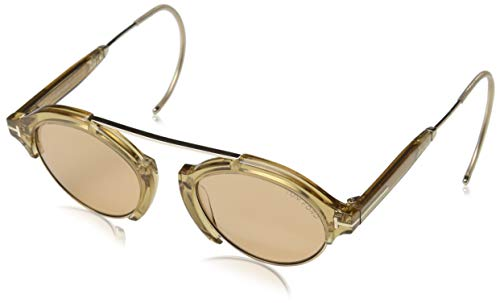 Tom Ford Unisex-Erwachsene FT0631 45E 49 Sonnenbrille, Gold (Tom Ford Brille Runde)