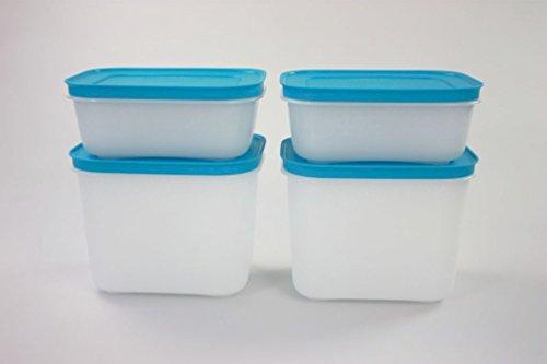 ehälter Eis-Kristall Eiskristall 1,1 L (2) + 450 ml (2) blau 11284 (Gemüse-eis-behälter)