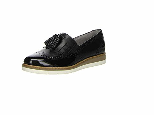 Tamaris Damen 24305 Slipper, Schwarz (Black/Blk Pat. 043), 39 EU