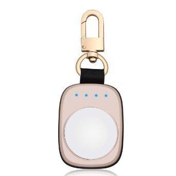 FLAGPOWER Apple Watch Portatile Caricabatterie 700mAh Batteria Esterna per Apple Watch Tecnologia iSmart Portachiavi 2 in 1 Caricabatterie (Oro)