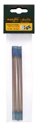 Augusta 0735 AMA - Lame di ricambio per sega a svolgere, per legno e plastica, confezione da 10 pezzi, 127 x 2 x 0,25 mm
