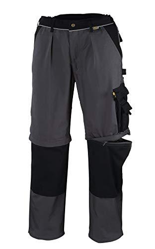 teXXor, Pantaloni da lavoro con tasconi laterali 2-in-1, in tela 320 e rinforzi in cordura, taglia 64, 20-008357-64, Grigio (Grau)