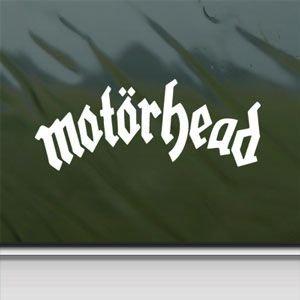 Motorhead White Sticker Decal Lemmy Metal Rock Band White Car Window Wall Macbook Notebook Laptop Sticker Decal by faststicker -