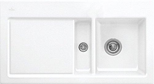 Villeroy & Boch Subway 50 Weiß (alpin) Keramik-Spüle Auflagespüle Einbauspüle