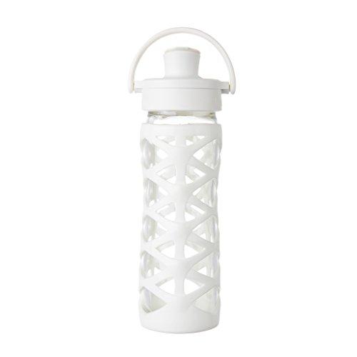 Active Cap (Lifefactory 16355 Glas-Trinkflasche mit Active Flip Cap, optic weiß, 475 ml)