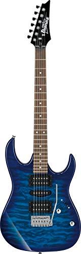 Gitarren IBANEZ GIO grx70qa TBB transparent blue burst Metall-Moderne